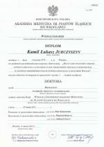 Stopień naukowy Doktor nauk medycznych w zakresie medycyny-patomorfologii